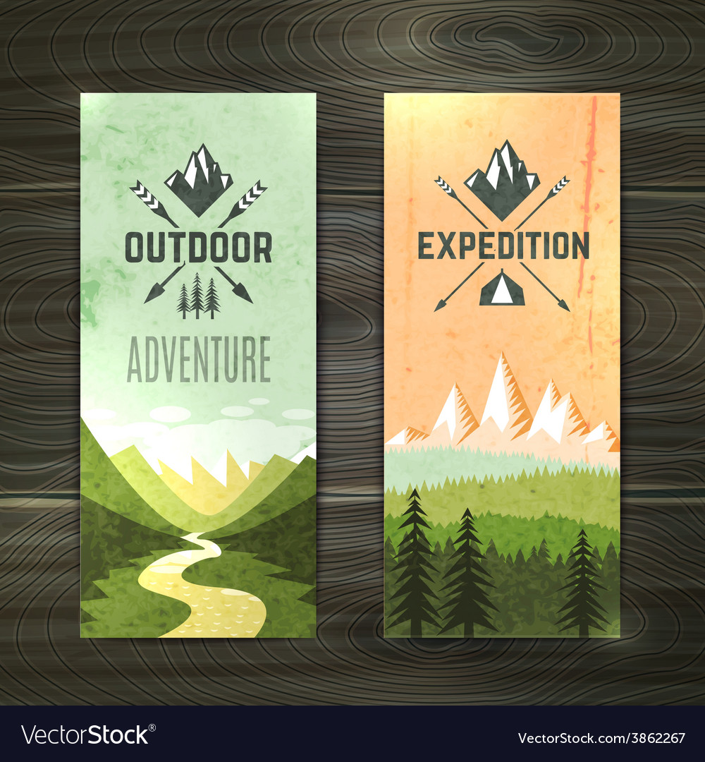 Tourism vertical banners set vector | Price: 1 Credit (USD $1)