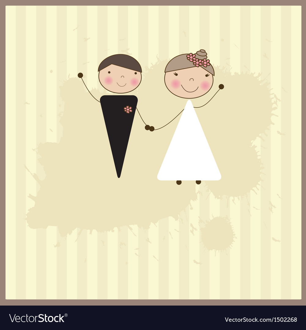 Beautiful wedding couple is enjoying wedding vector | Price: 1 Credit (USD $1)