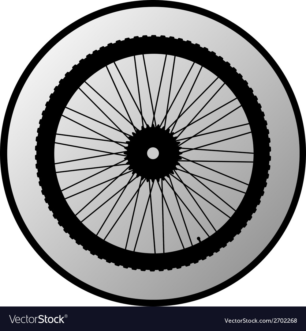 Bicycle wheel button vector | Price: 1 Credit (USD $1)