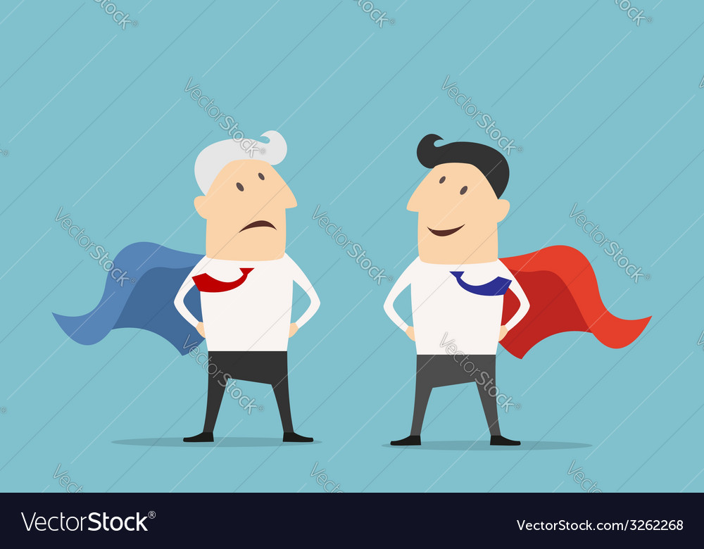 Cartoon super hero businessman characters vector | Price: 1 Credit (USD $1)