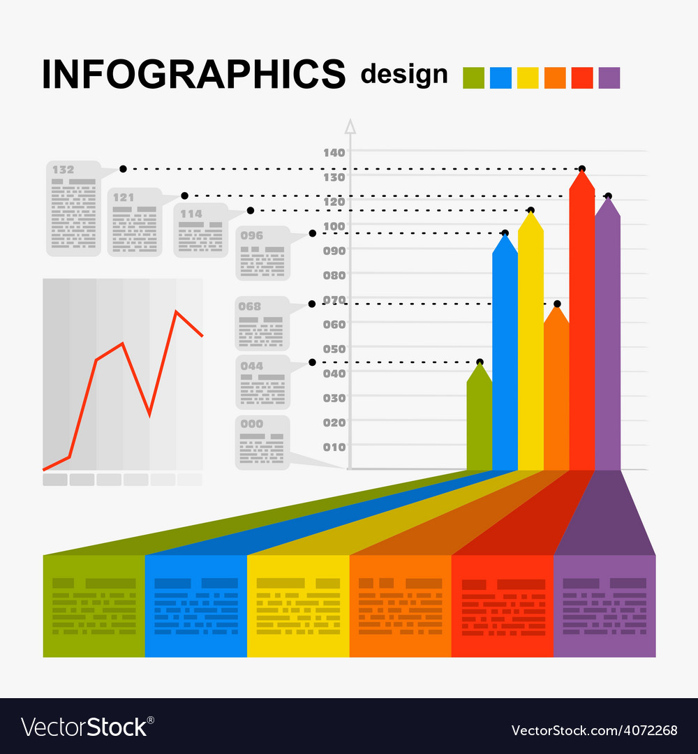 Conceptual blank - colorful infographics design vector | Price: 1 Credit (USD $1)