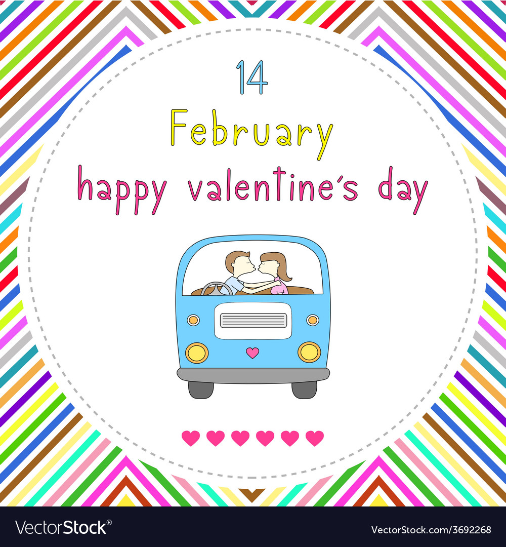 Happy valentine s day card16 vector | Price: 1 Credit (USD $1)