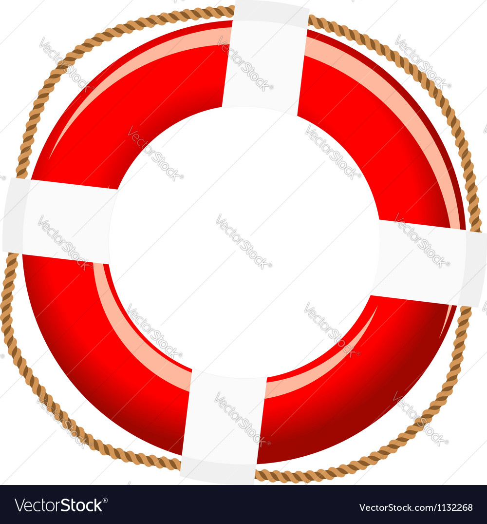 Isolated life buoy vector | Price: 1 Credit (USD $1)