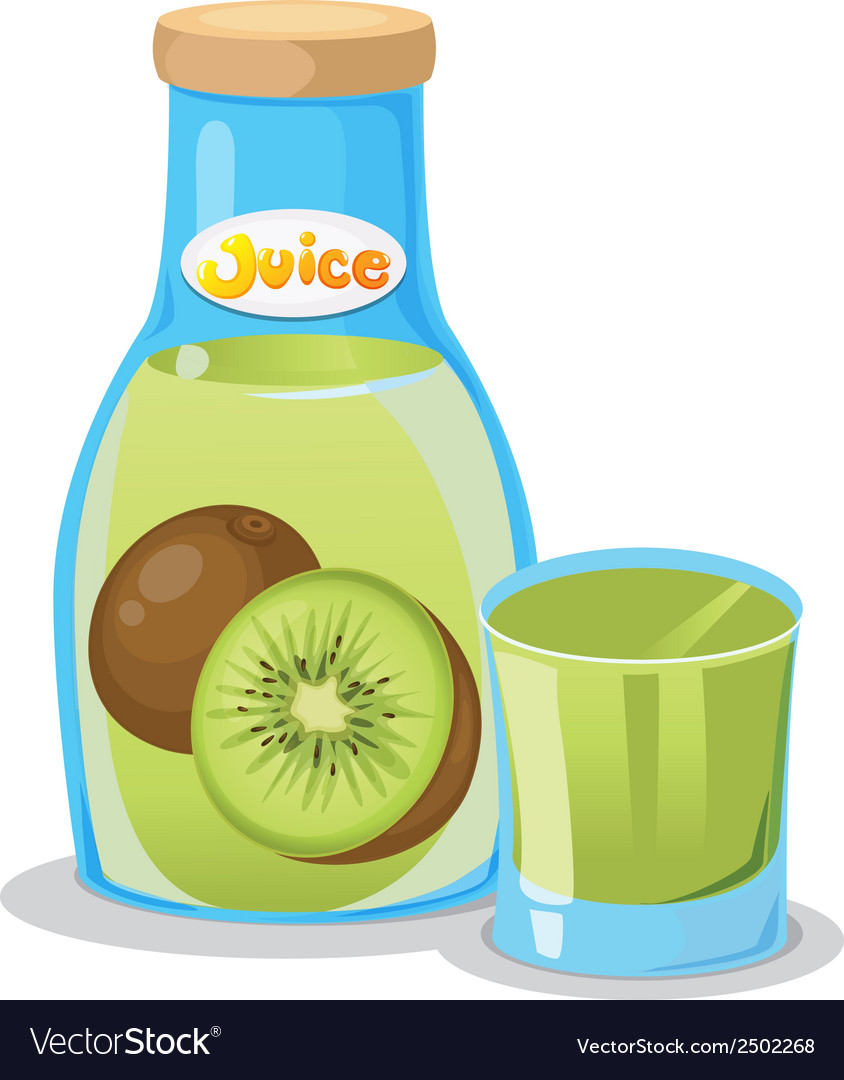 Kiwi juice in the bottle vector | Price: 1 Credit (USD $1)