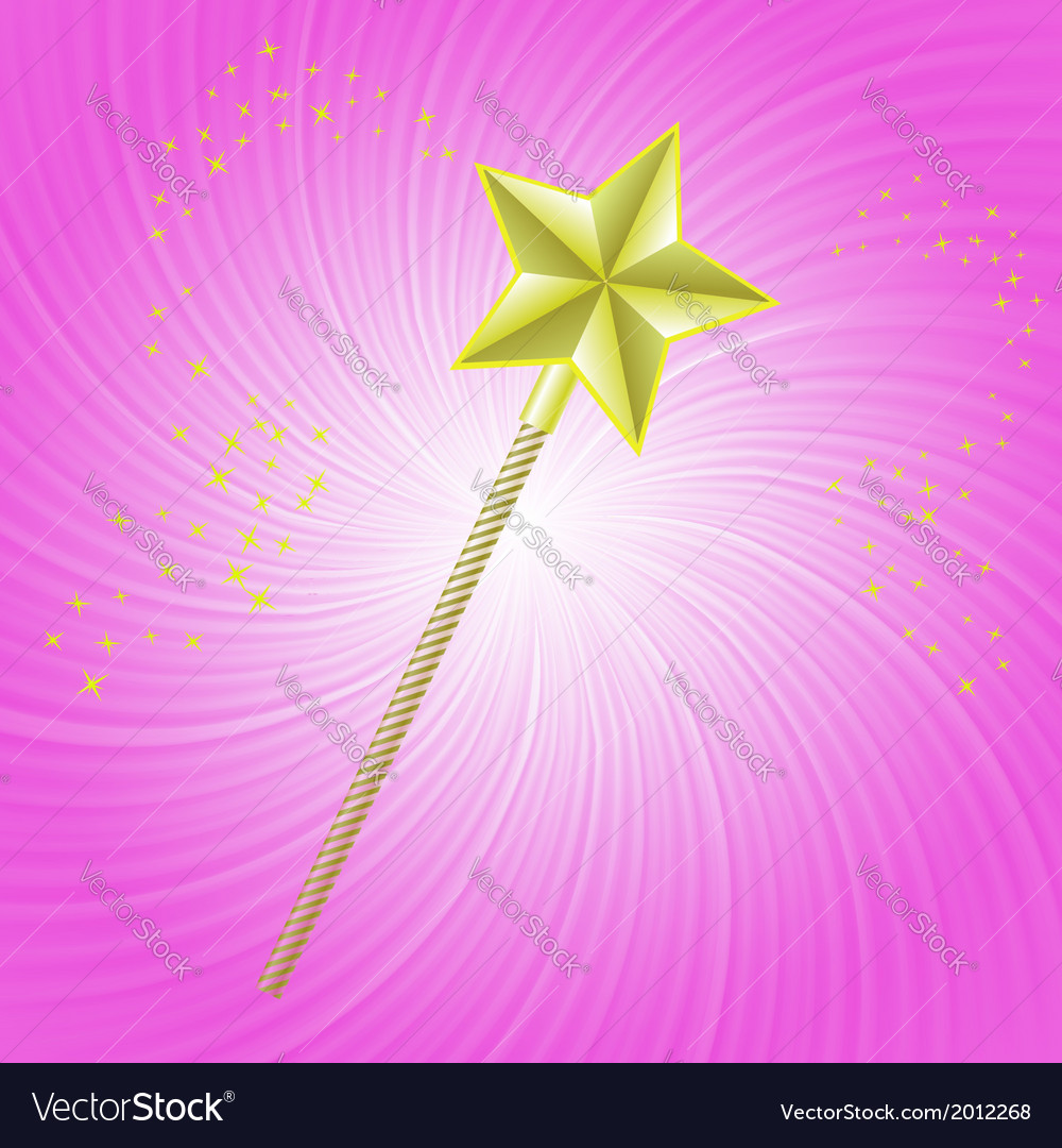 Magic wand vector | Price: 1 Credit (USD $1)