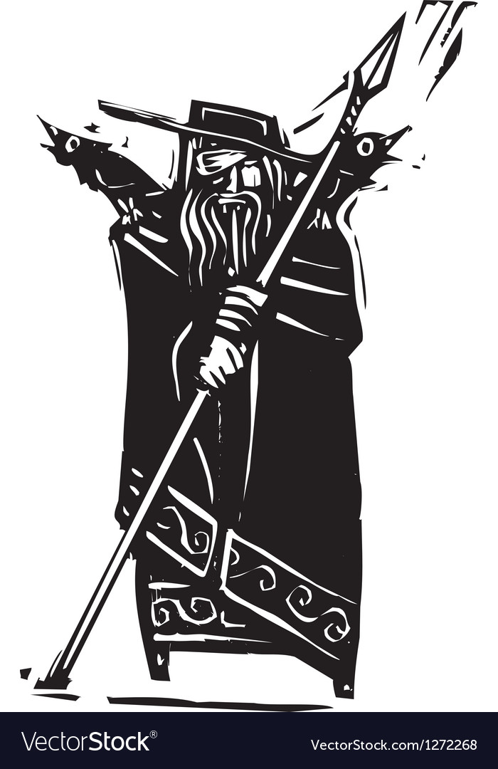Norse god odin vector | Price: 1 Credit (USD $1)