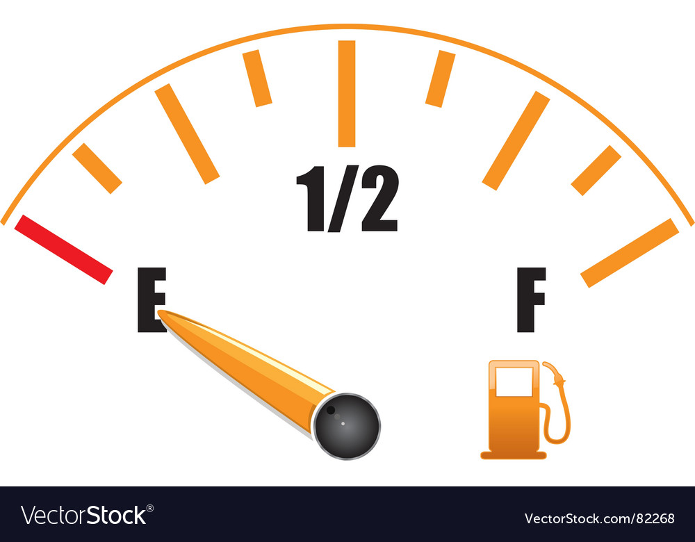 Petrol gauge vector | Price: 1 Credit (USD $1)