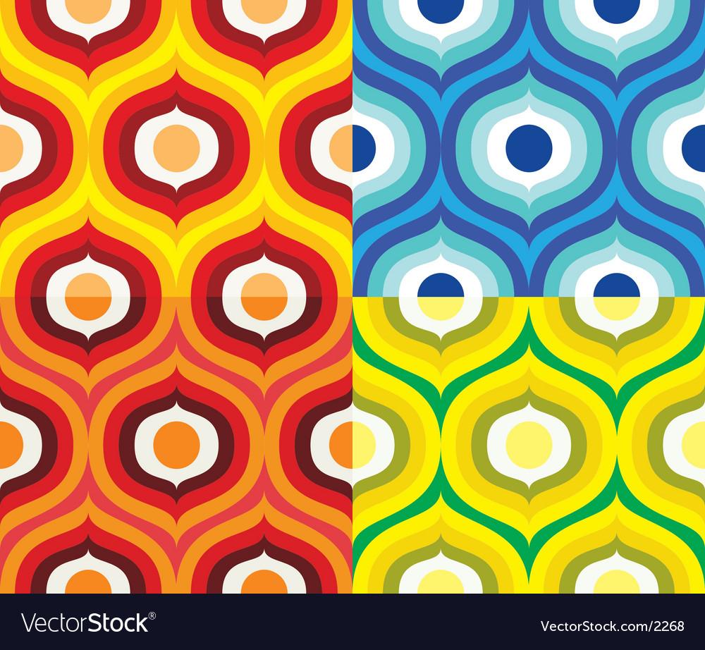 Scandinavian retro pattern vector | Price: 1 Credit (USD $1)