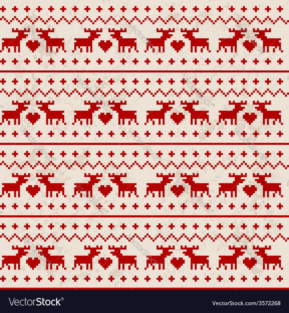 Seamless deer pattern vector | Price: 1 Credit (USD $1)
