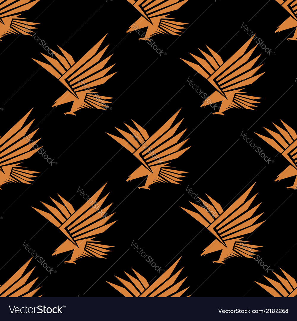 Seamless pattern of a stylized flying eagle vector | Price: 1 Credit (USD $1)