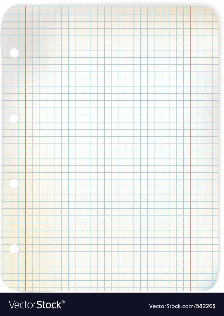 Sheet of grid paper vector | Price: 1 Credit (USD $1)