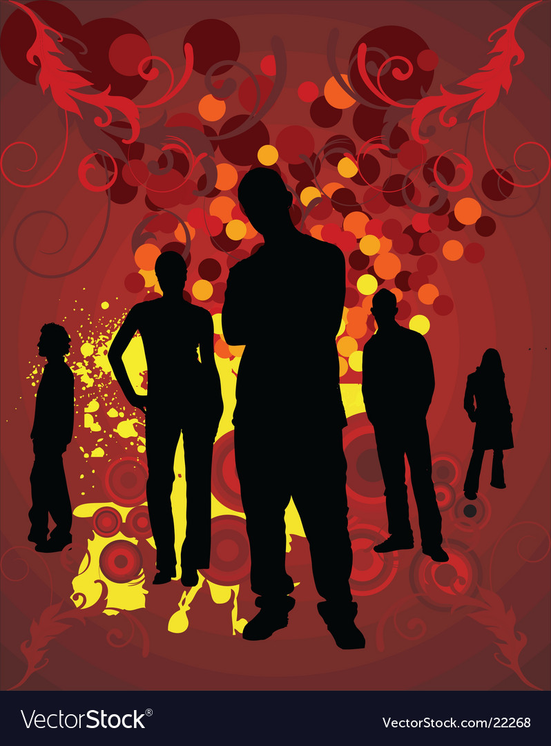 Silhouettes people vector   Price: 1 Credit (USD $1)