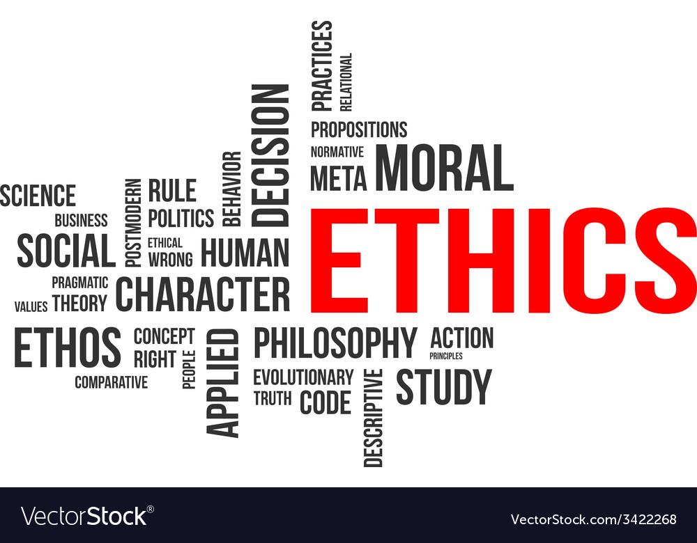 Word cloud ethics vector | Price: 1 Credit (USD $1)