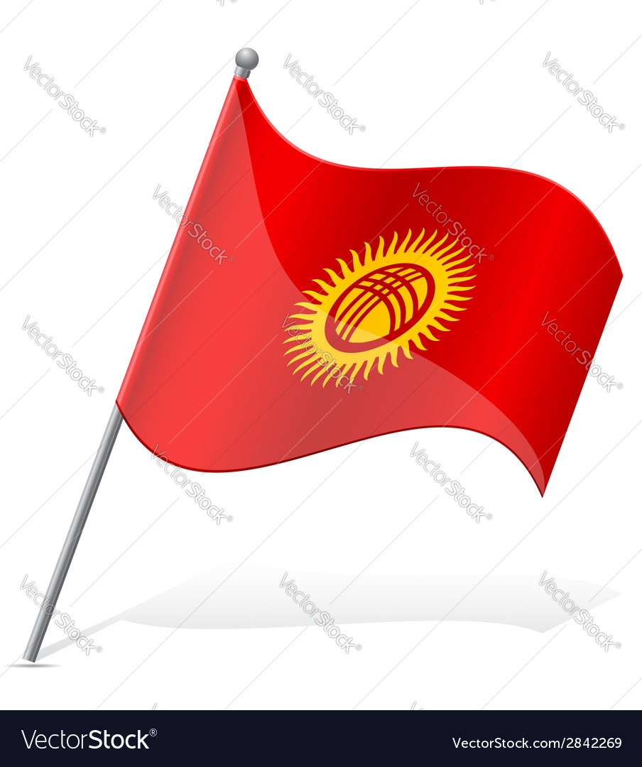 Flag of kyrgyzstan vector | Price: 1 Credit (USD $1)