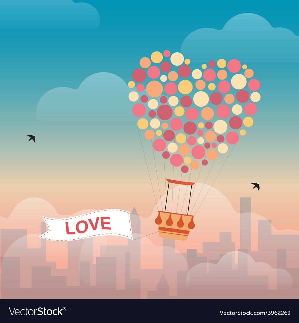 Hot air balloon and clouds vector   Price: 3 Credit (USD $3)