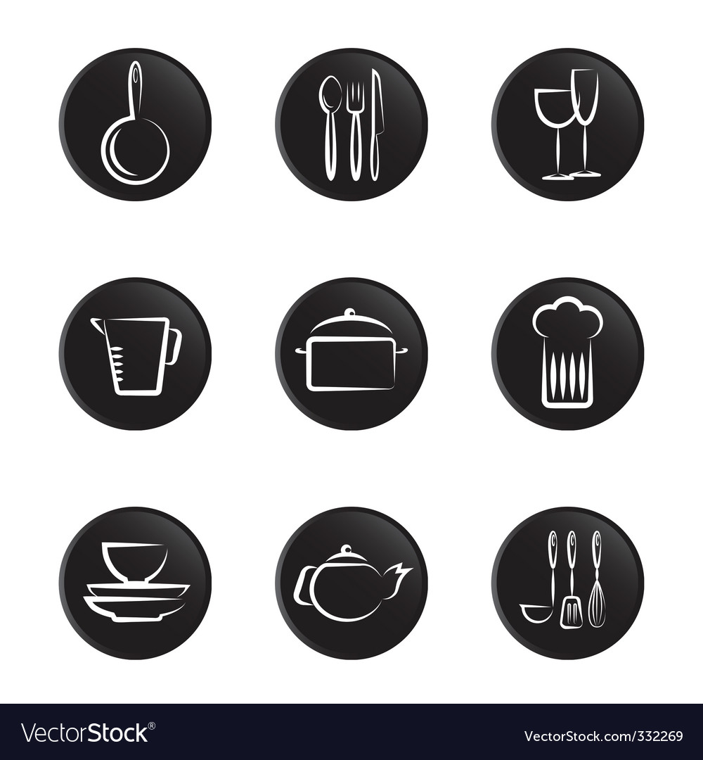 Kitchenware objects vector | Price: 1 Credit (USD $1)