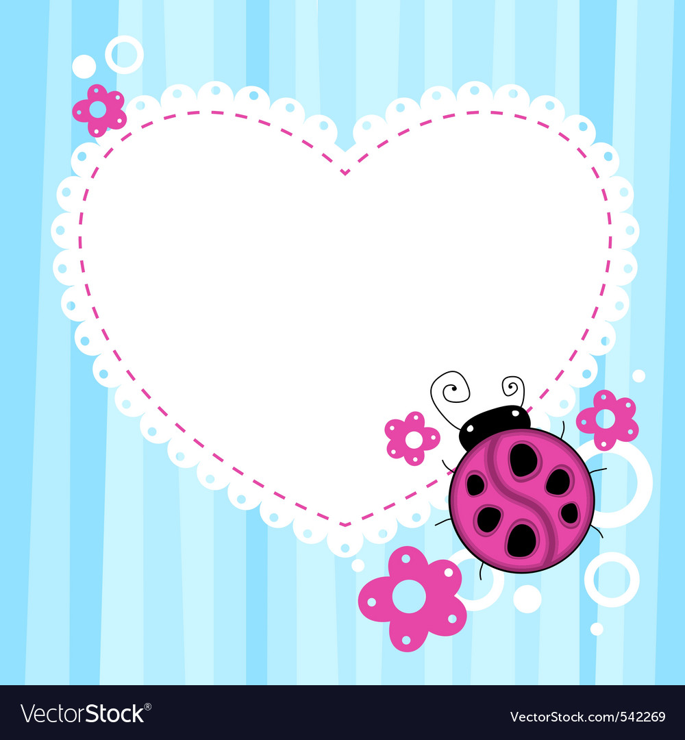 Ladybird background vector | Price: 1 Credit (USD $1)