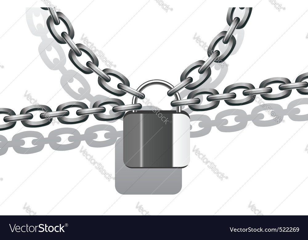Metal chain and lock vector | Price: 1 Credit (USD $1)