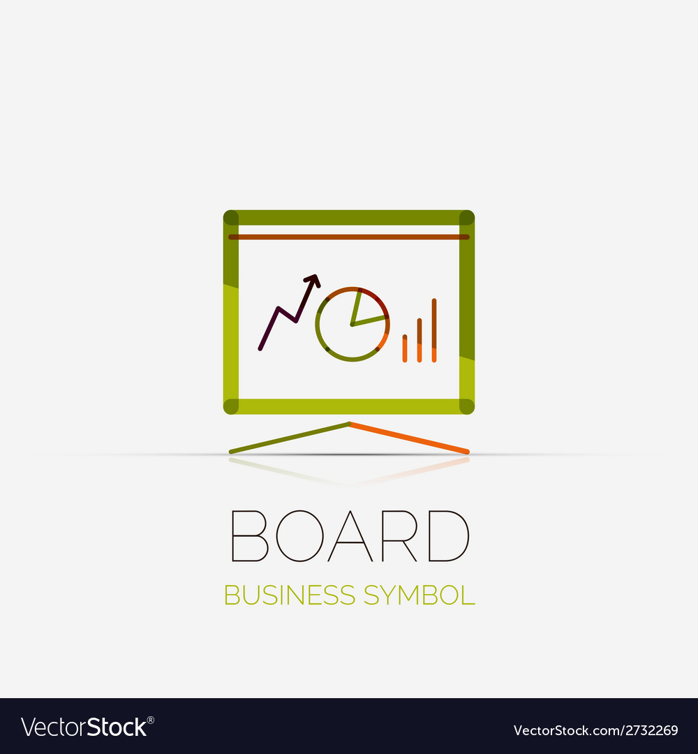 Presentation board company logo business concept vector | Price: 1 Credit (USD $1)
