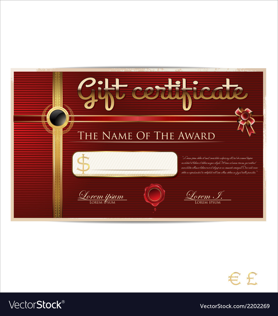 Red gift certificate vector | Price: 1 Credit (USD $1)