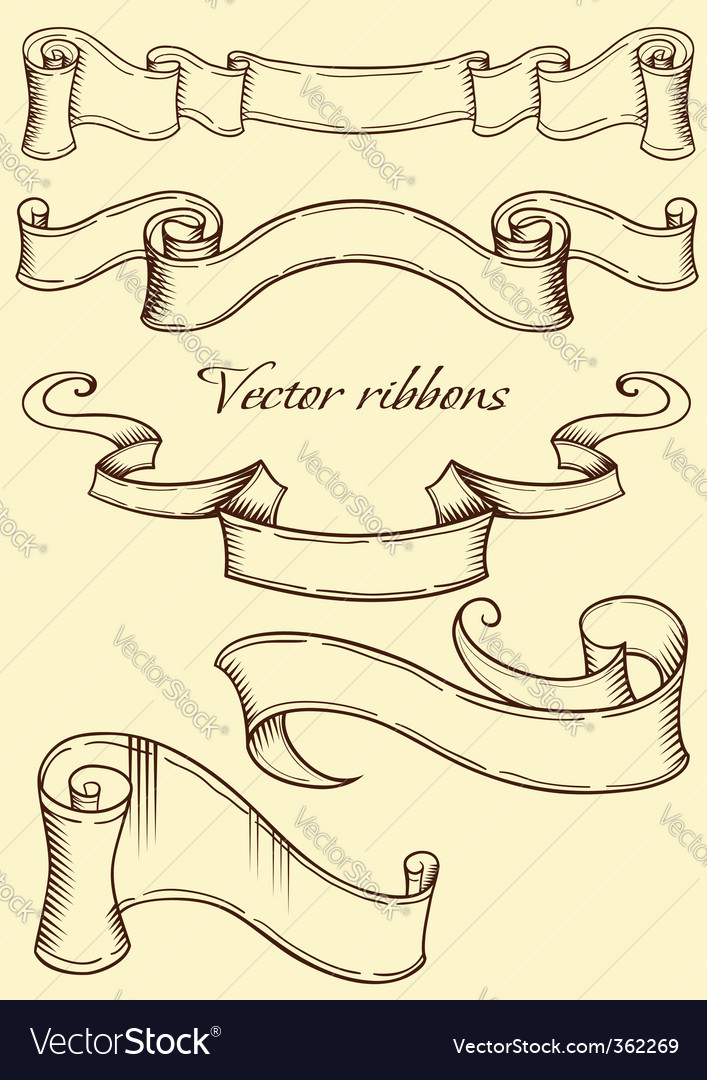 Retro style ribbon vector | Price: 1 Credit (USD $1)
