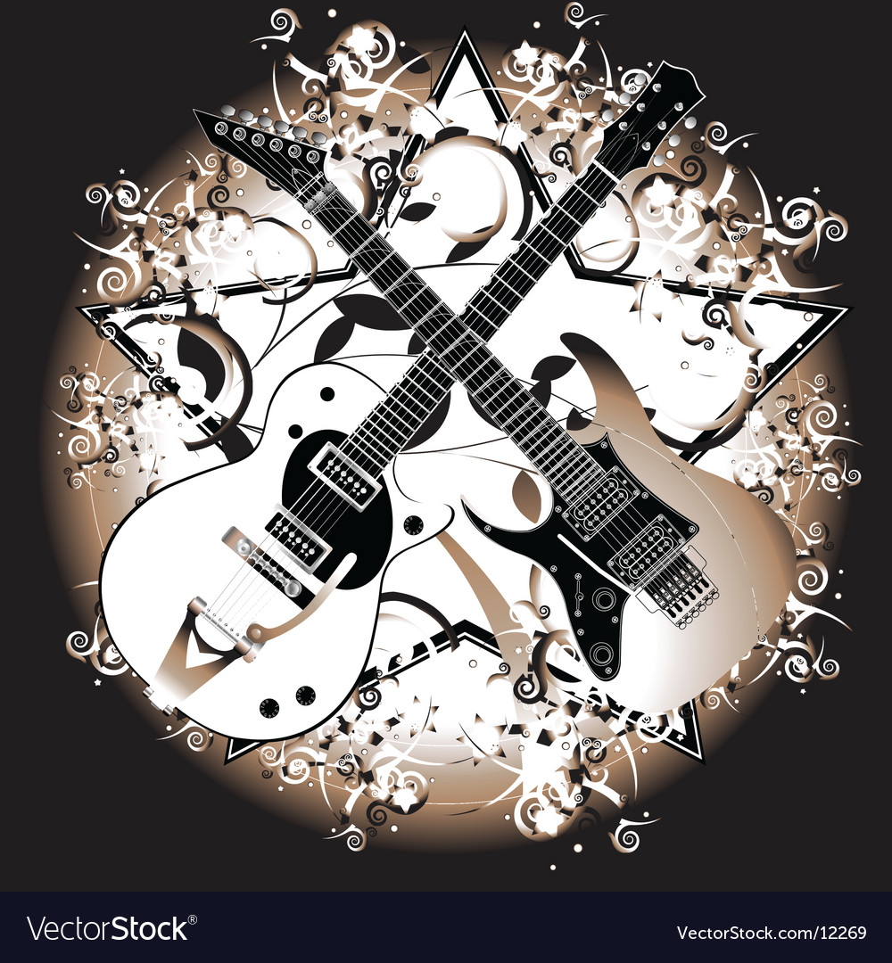 Two guitars vector | Price: 3 Credit (USD $3)
