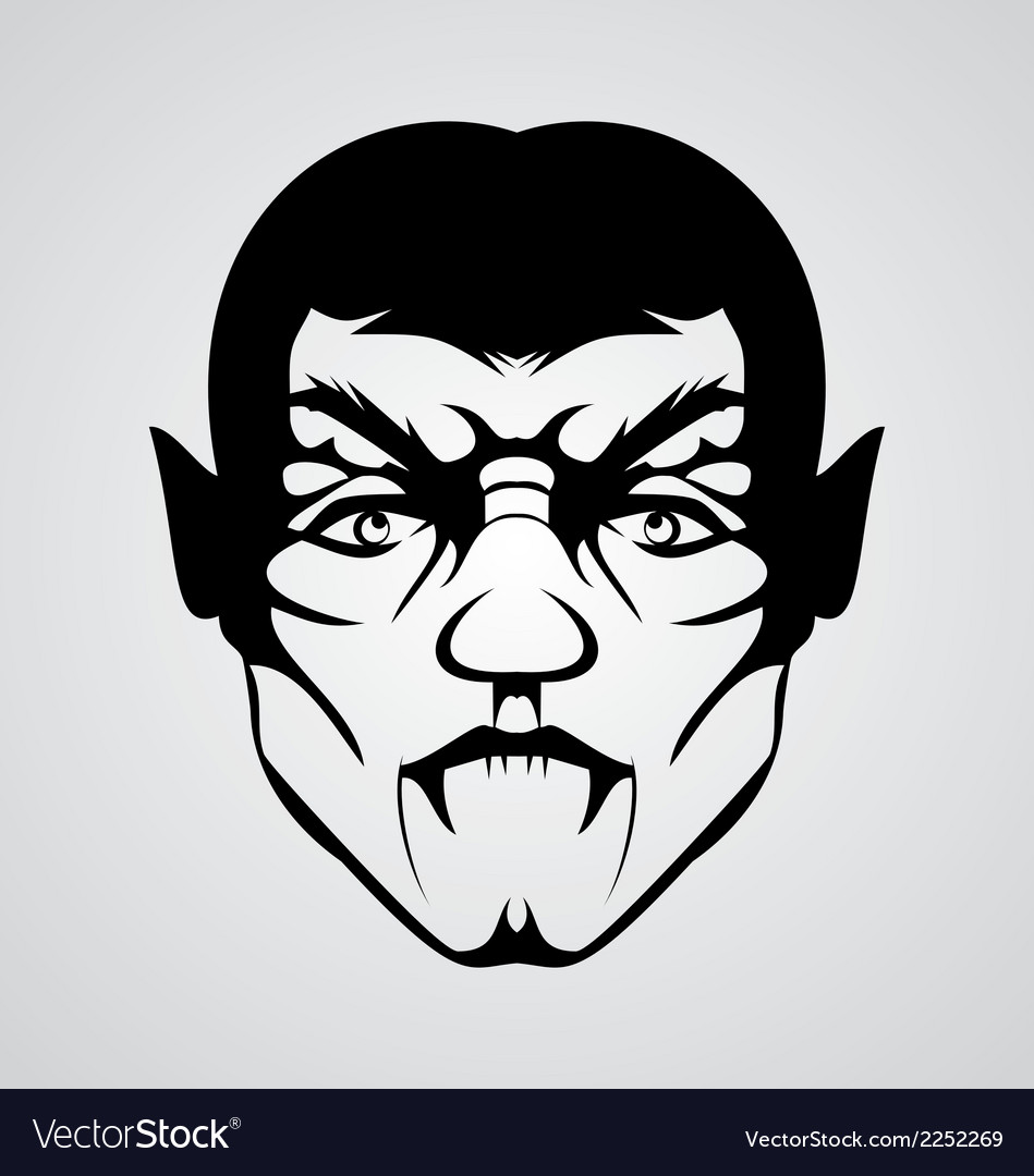 Vampire face vector | Price: 1 Credit (USD $1)