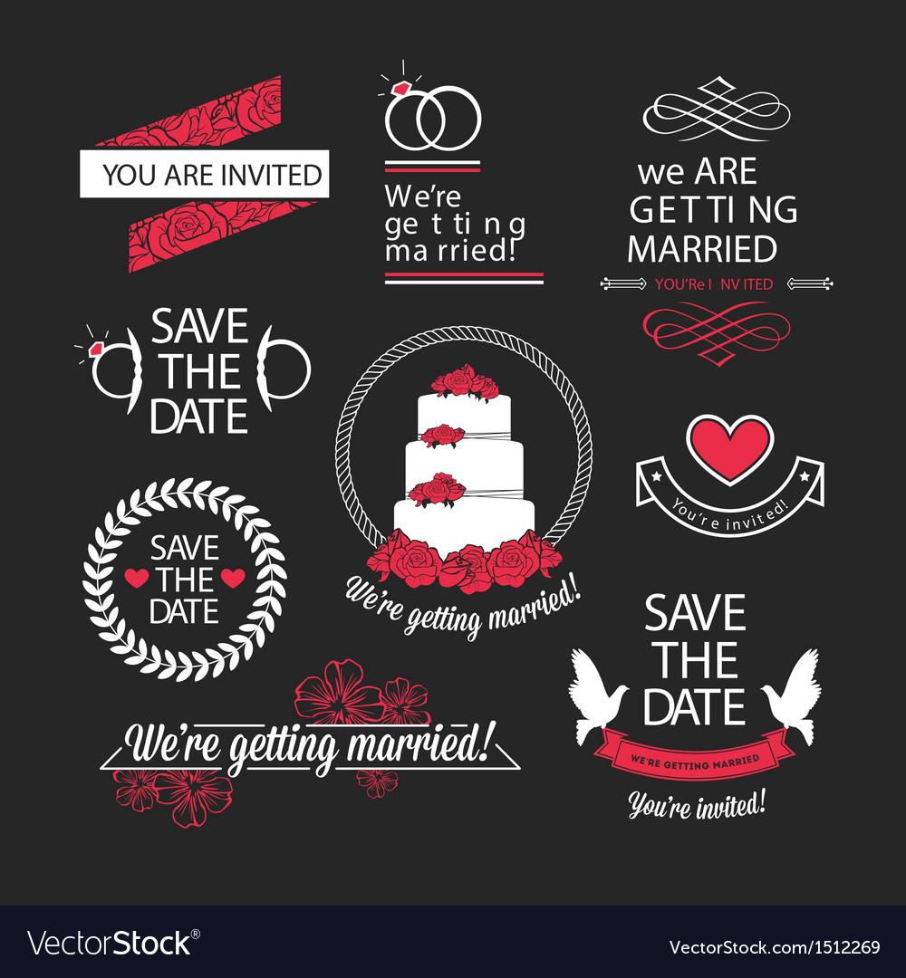 Wedding stamps mini set vector | Price: 1 Credit (USD $1)
