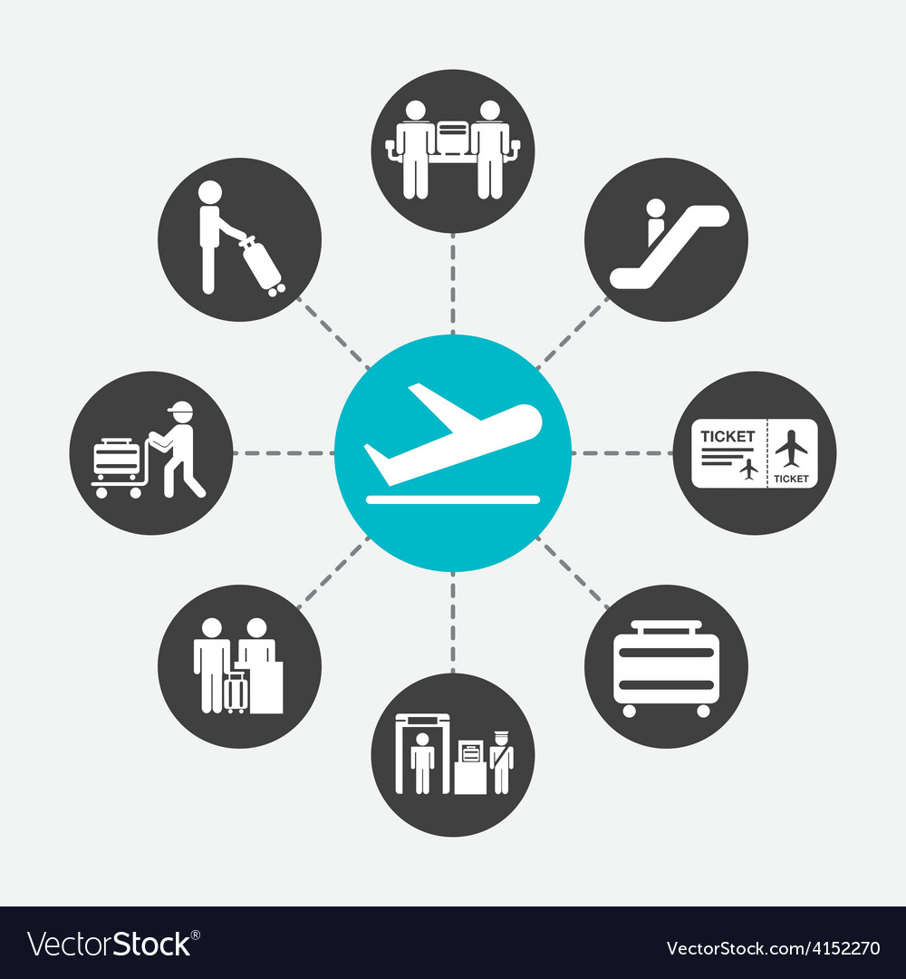 Airport terminal vector | Price: 1 Credit (USD $1)
