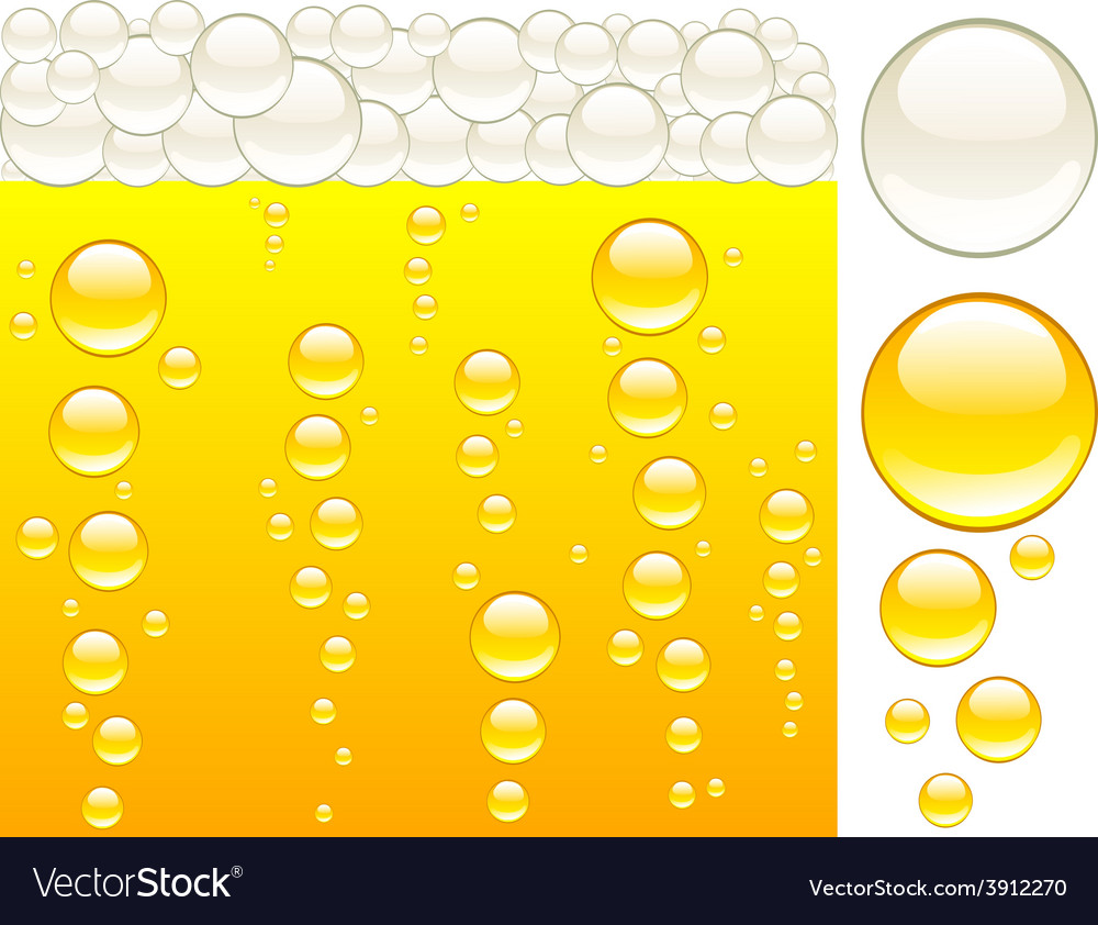 Beer and bubbles vector | Price: 1 Credit (USD $1)
