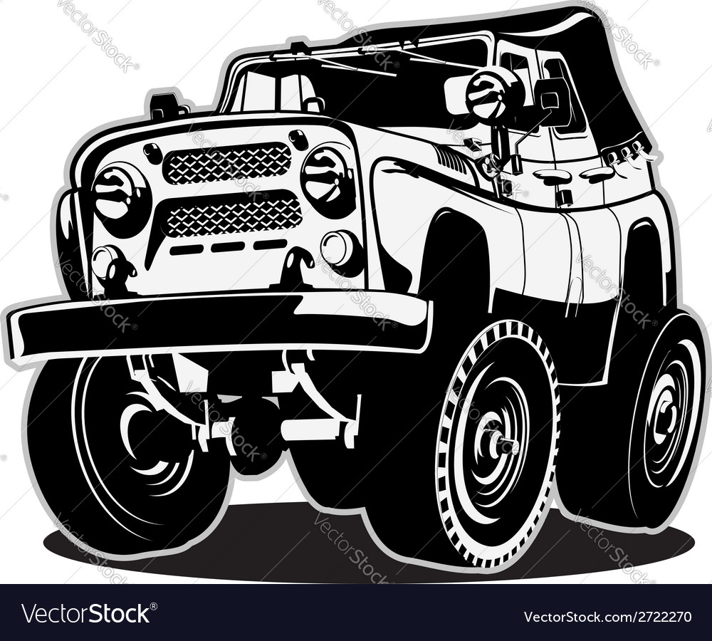 Cartoon jeep vector | Price: 1 Credit (USD $1)