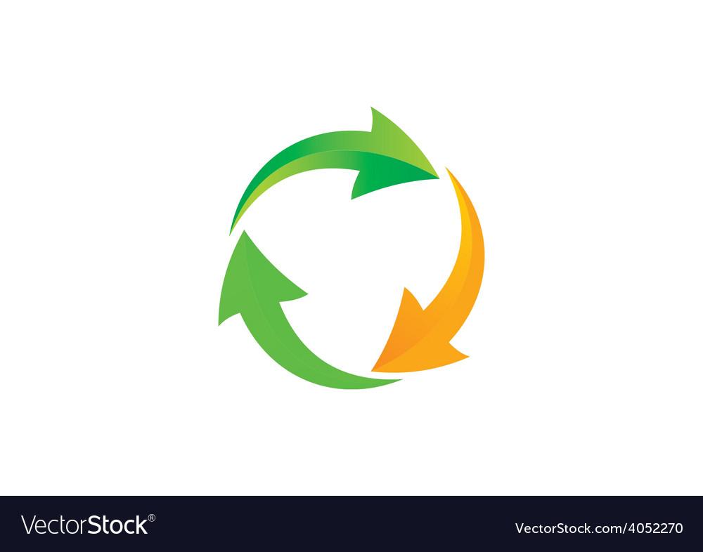 Circle arrow recycle abstract logo vector | Price: 1 Credit (USD $1)