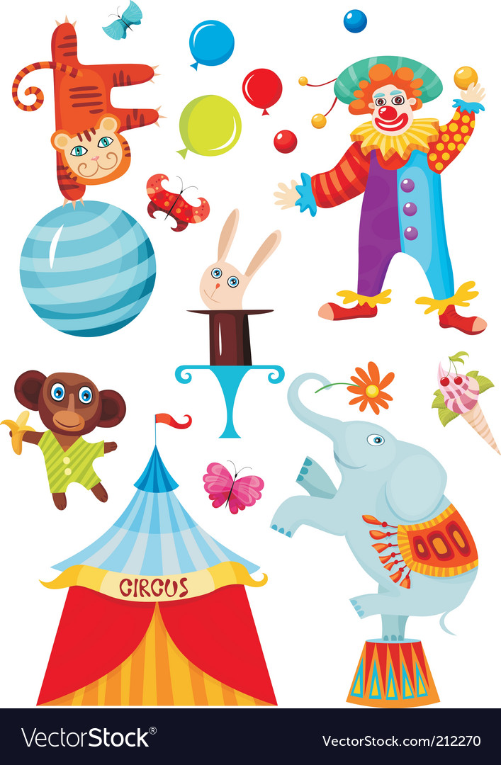 Circus set vector | Price: 3 Credit (USD $3)