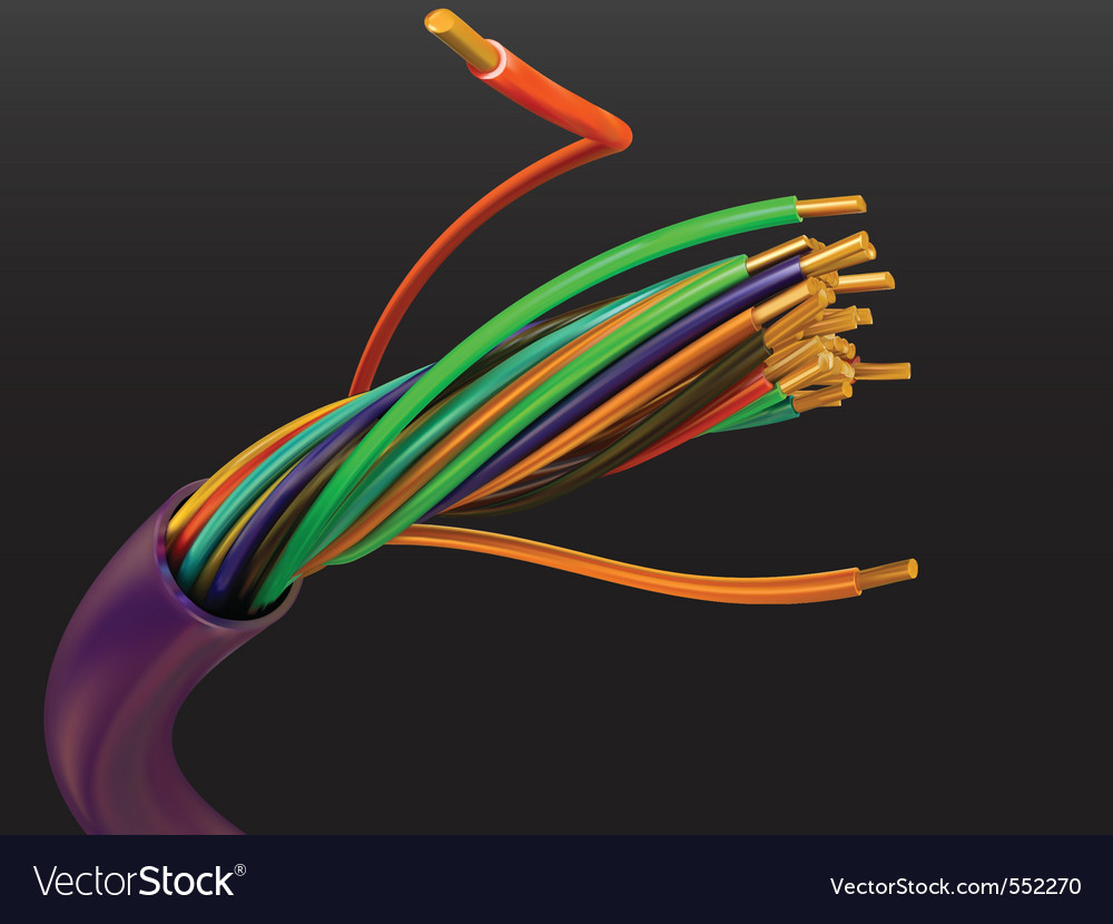 Electric cable vector | Price: 3 Credit (USD $3)