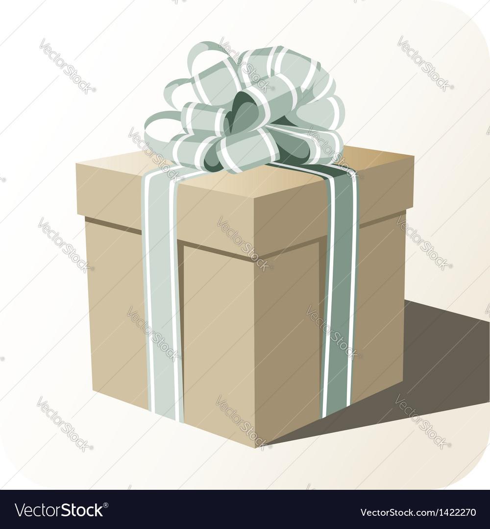 Gift box whit big ribbon vector   Price: 1 Credit (USD $1)