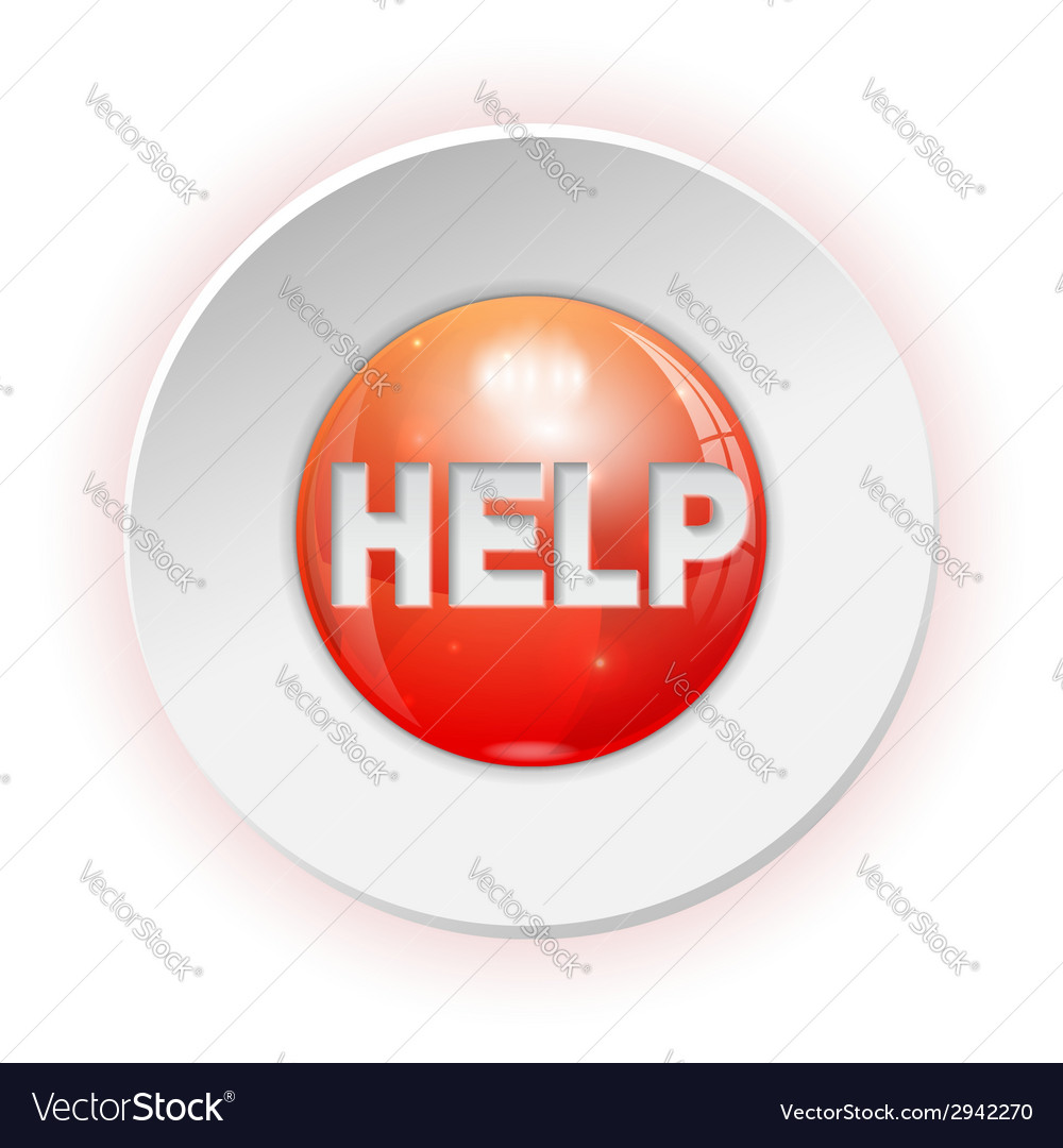 Help button vector | Price: 1 Credit (USD $1)