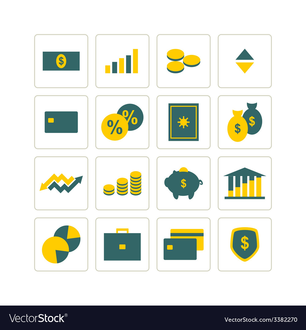 Icons finance vector | Price: 1 Credit (USD $1)