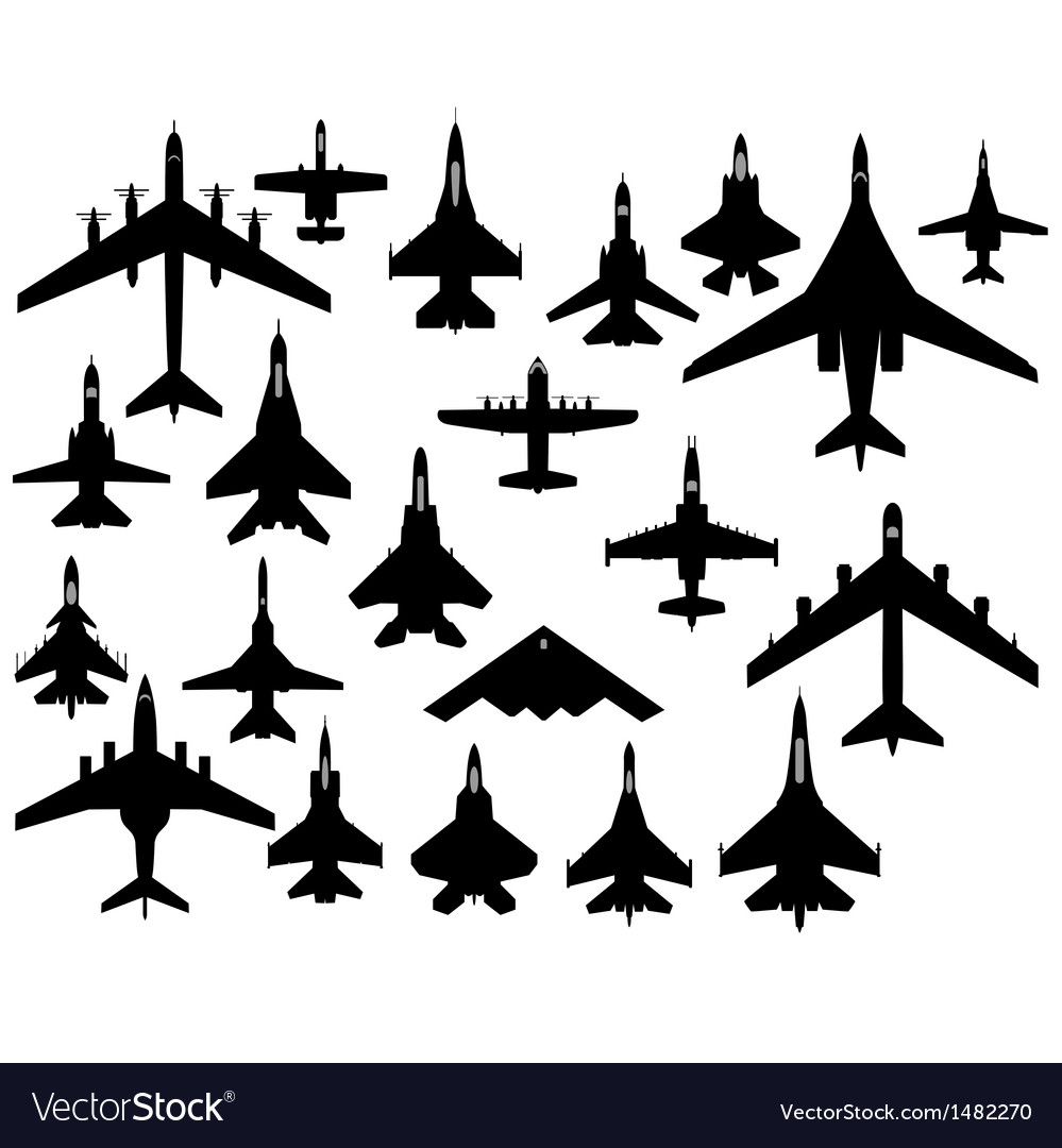 Military aircraft vector | Price: 1 Credit (USD $1)