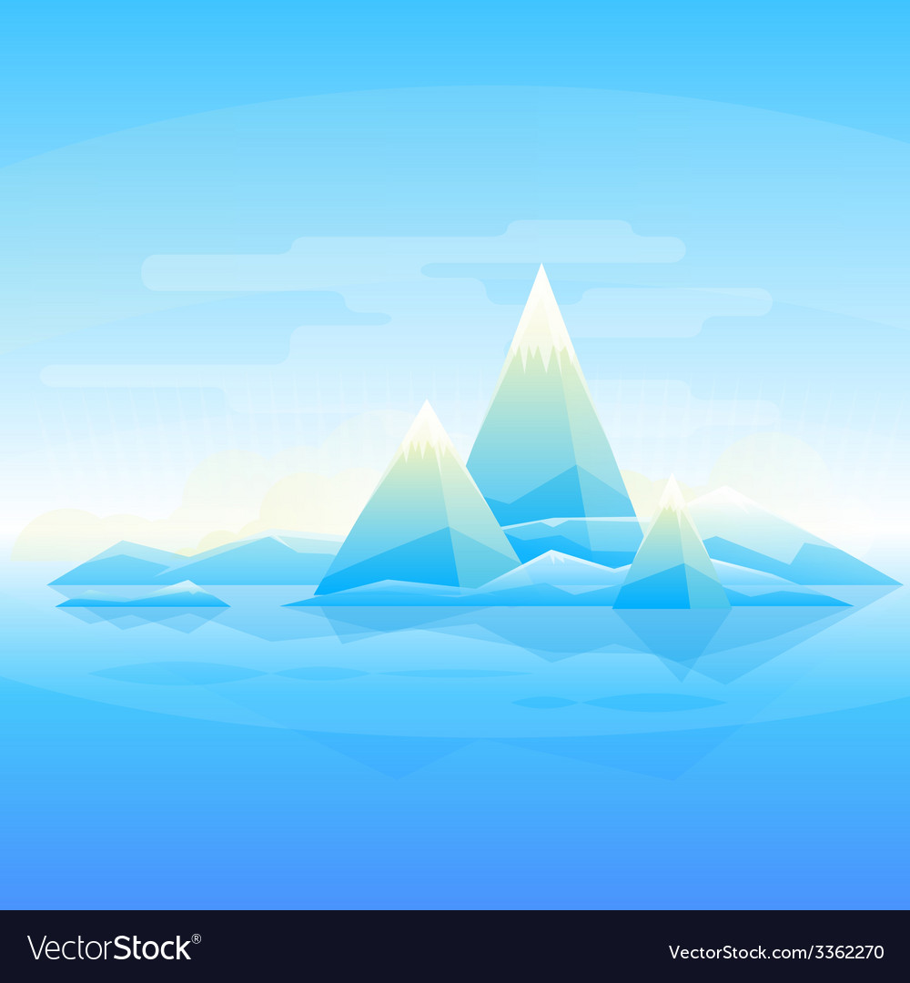 Mountain landscape background vector | Price: 1 Credit (USD $1)