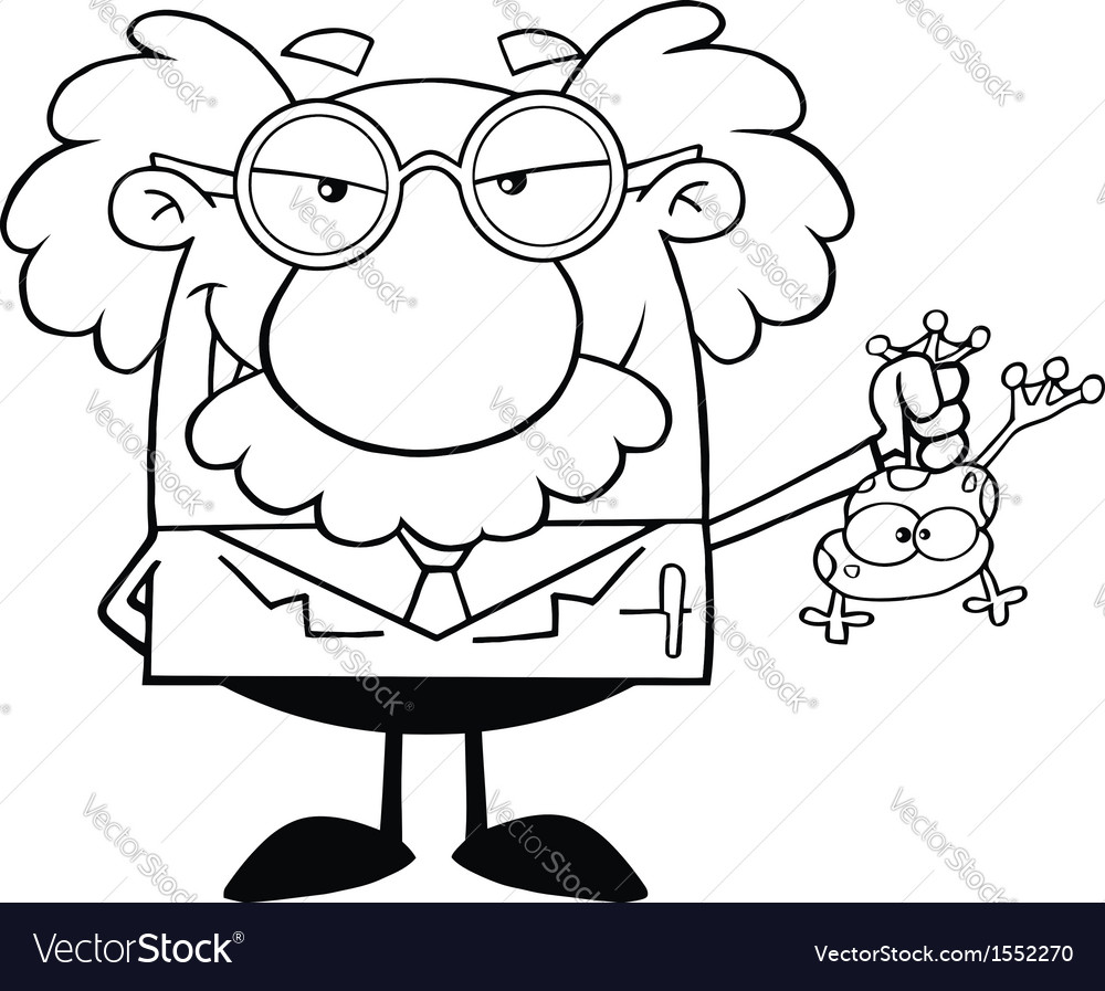 Scientist cartoon vector