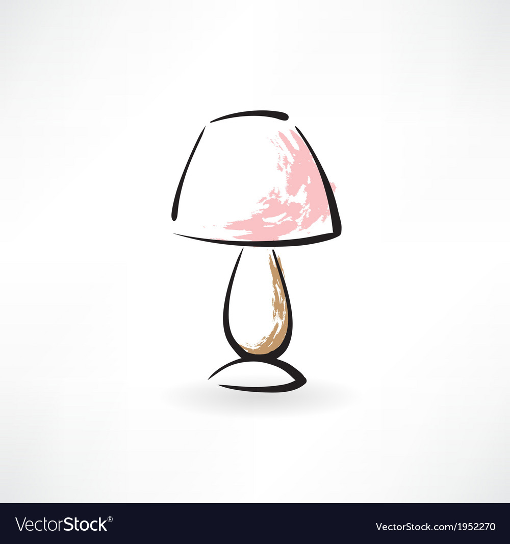Table-lamp grunge icon vector | Price: 1 Credit (USD $1)