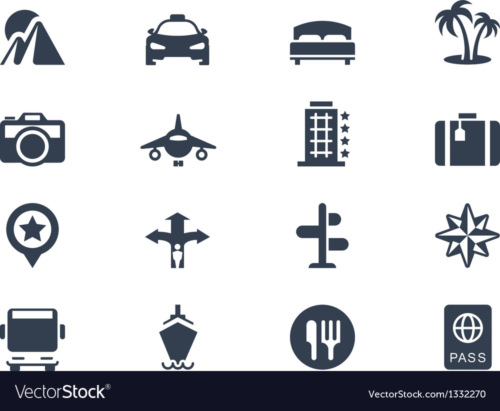 Trave icons vector | Price: 1 Credit (USD $1)