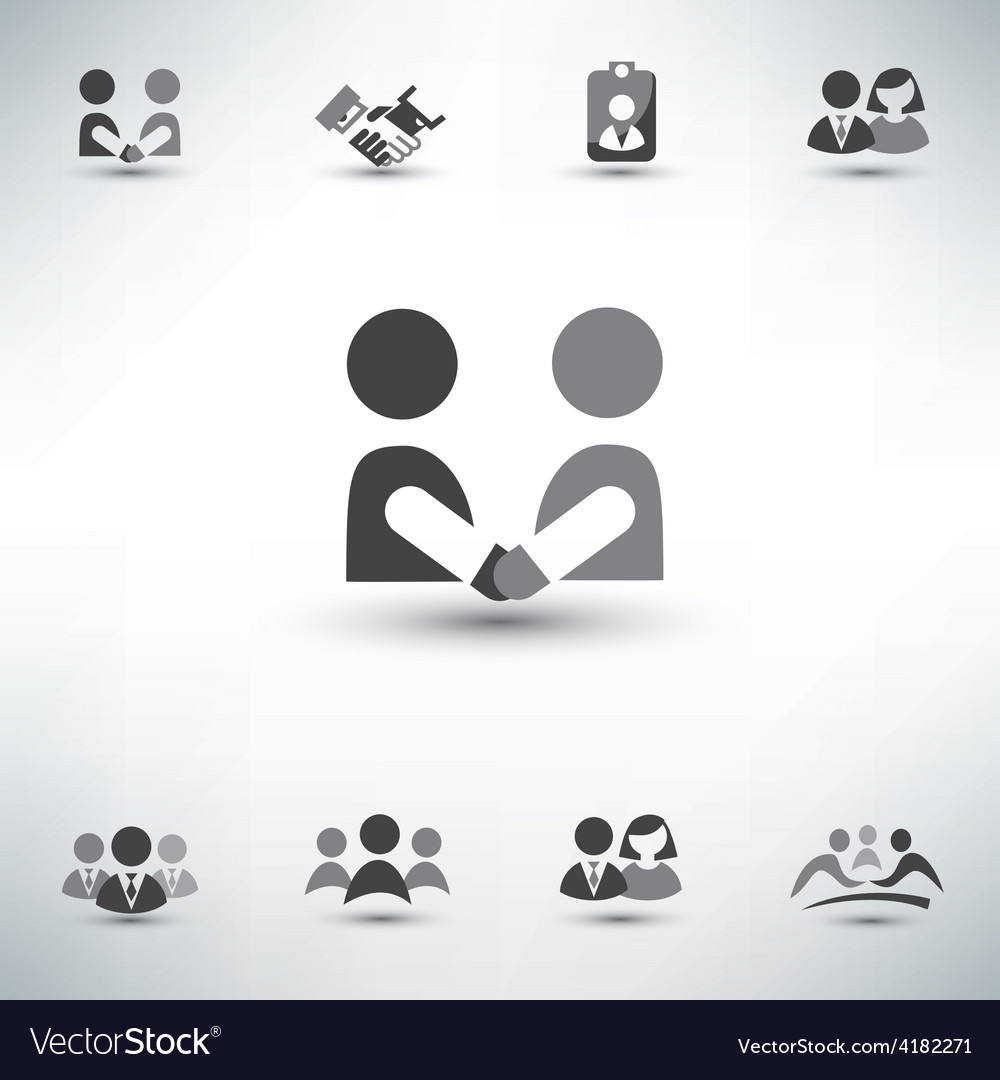 Business people icons set vector | Price: 1 Credit (USD $1)