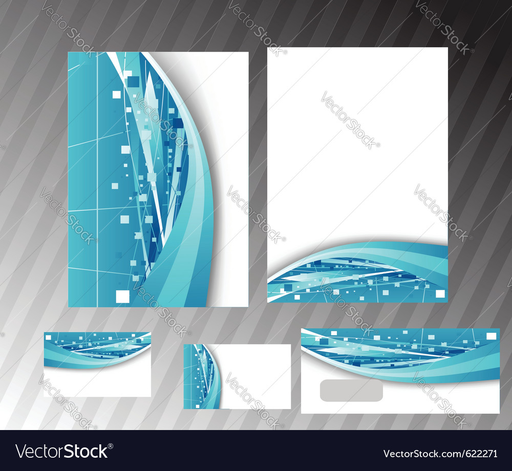 Corporate hitech folder vector | Price: 1 Credit (USD $1)