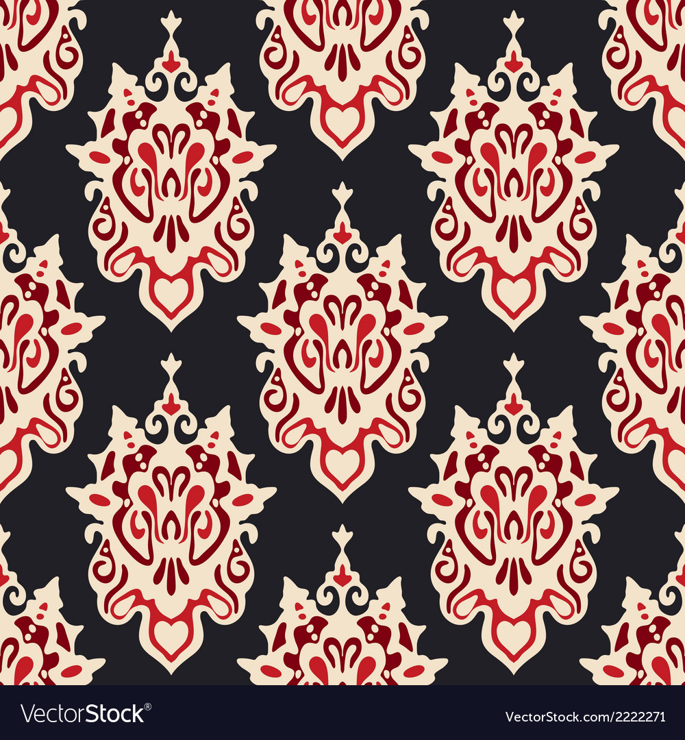 Damask seamless floral vector   Price: 1 Credit (USD $1)