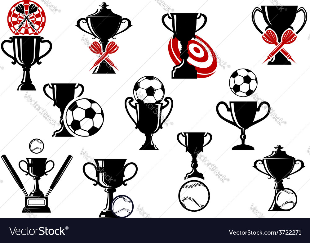 Football or soccer darts baseball competition vector | Price: 1 Credit (USD $1)