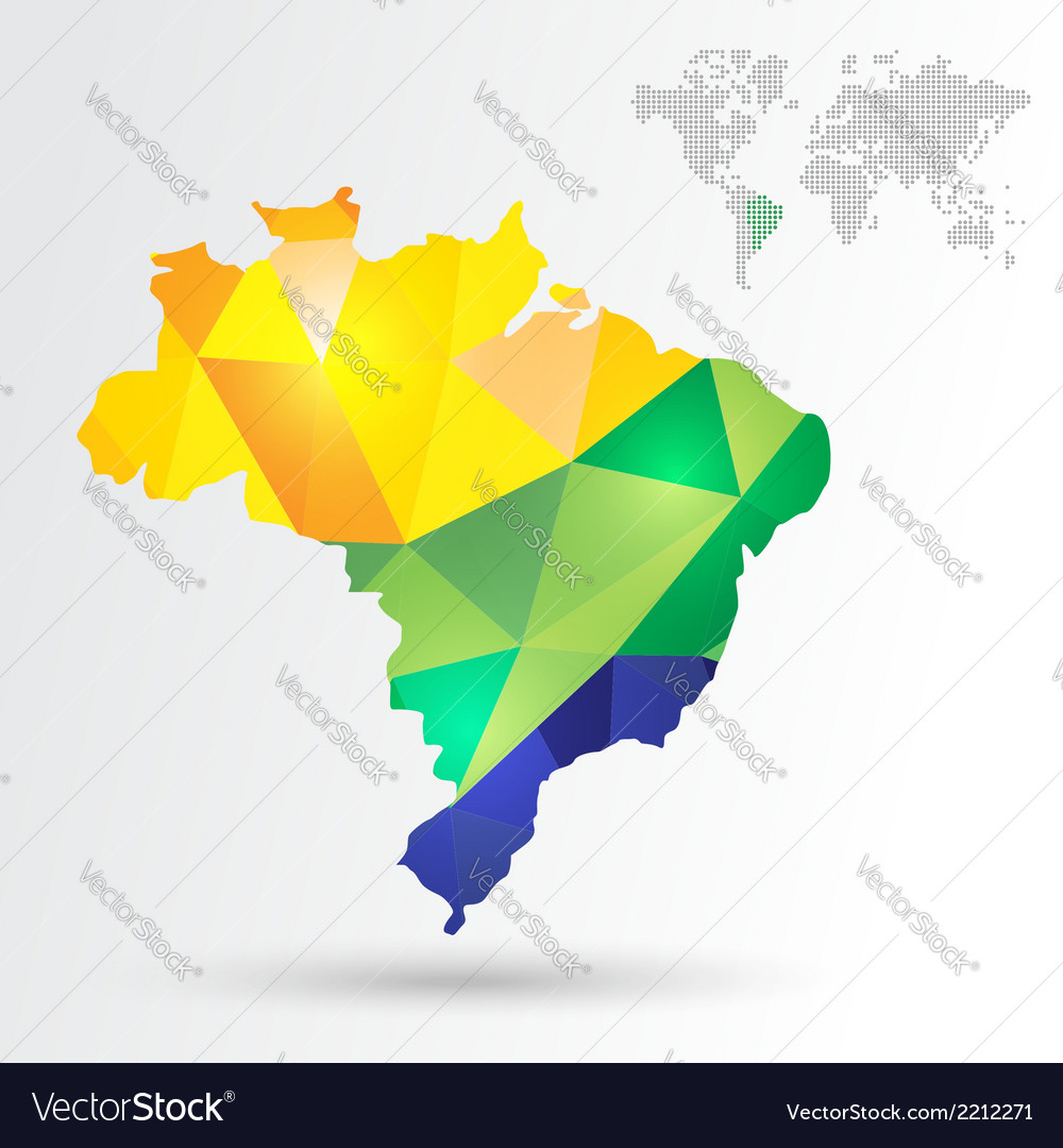 Infographic brazil map vector | Price: 1 Credit (USD $1)