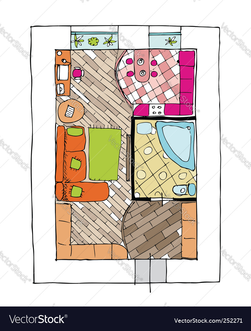 Interior design apartments vector | Price: 1 Credit (USD $1)