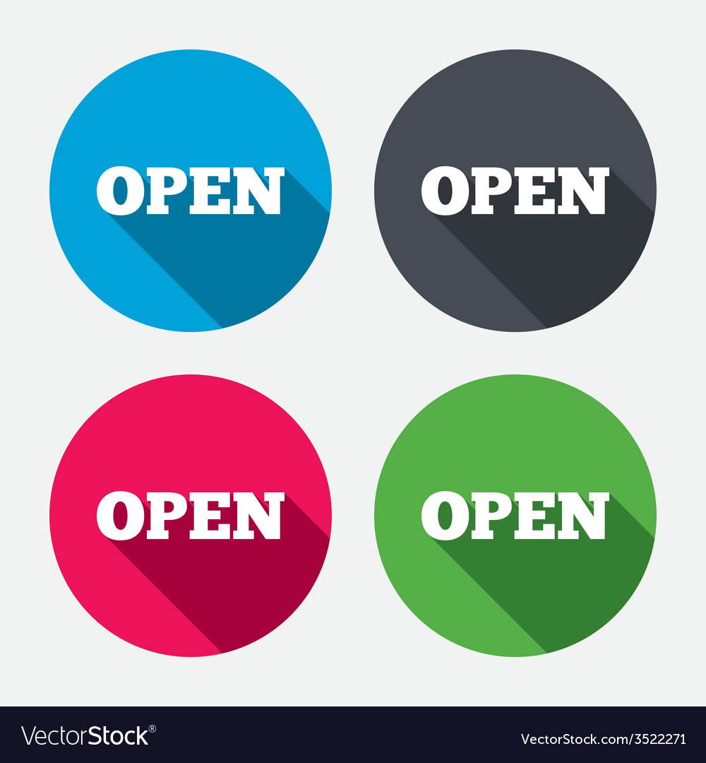 Open sign icon entry symbol vector | Price: 1 Credit (USD $1)