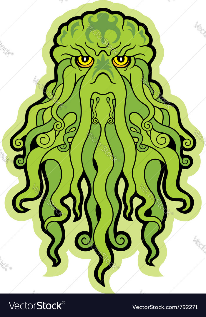 Sea monster cthulhu vector | Price: 1 Credit (USD $1)